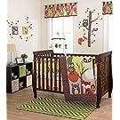 Foxy & Friends 3 Piece Baby Crib Bedding Set by Belle