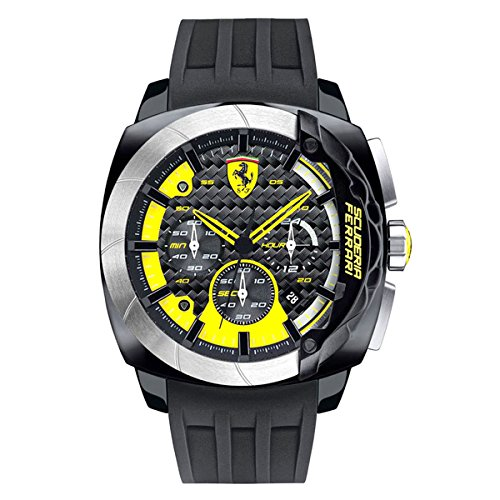 Ferrari 0830206 47mm Black Plastic Band & Case Mineral Men's Watch