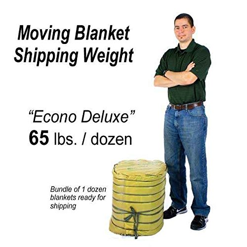 72'' X 80'' Moving Blanket (12-Pack) US Cargo Control Econo Deluxe (65 Lbs/Dozen, Black/Gray) by US Cargo Control (Image #5)