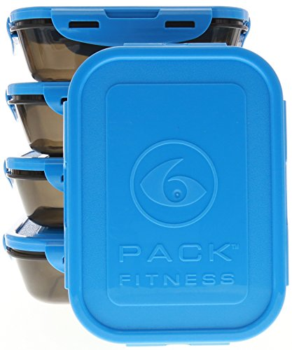 Pack Fitness Sure Containers Black