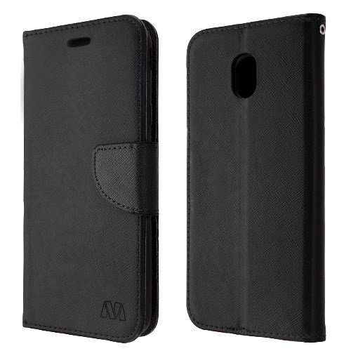 """Luckiefind Compatible with Luckiefind Compatible with""""Galaxy J7 (2018)/Galaxy J7 Refine/Galaxy J7 Star/J737"""", Premium PU Leather Flip Wallet Credit Card Cover Case (Wallet Black)"""