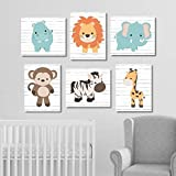 NNNNOOO Safari Nursery Wall Art Safari Nursery Decor Nursery Canvas Zoo Animal Nursery Jungle Animals Nursery Pictures 8x10 inches Set of 6