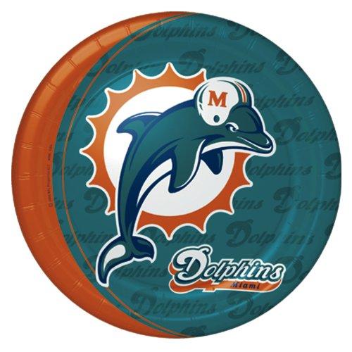 Miami Dolphins Dinner Plates -