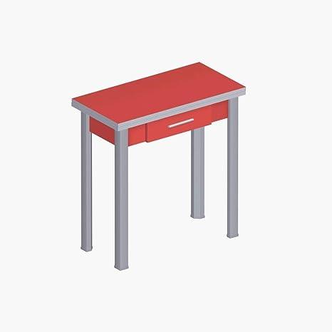 Tavolo Da Cucina Allungabile Con Cassetto.Abitti Tavolo Da Cucina Rossa Rosso Allungabile Pieghevole Tipo