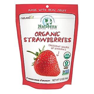 Natierra Nature's Organic Freeze-Dried Strawberries | Gluten Free & Vegan | 1.2 Ounce