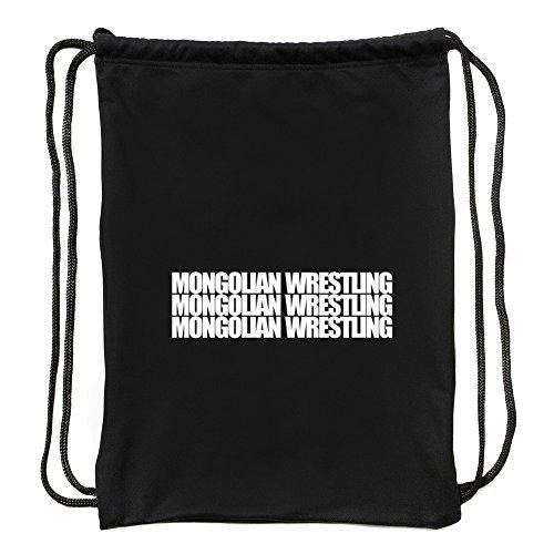 Eddany Mongolian Wrestling three words Sport Bag by Eddany