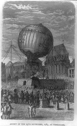 Photo: Montgolfier bros,King Louis XVI,M Antoinette,balloon