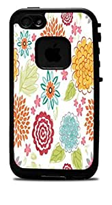 Blooms Bursts Flower Vinyl Decal Sticker For HTC One M7 Phone Case Cover Lifeproof Case