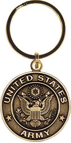 US Army Keychain Military Products Key Rings Gifts for Servicemen and Veterans ()