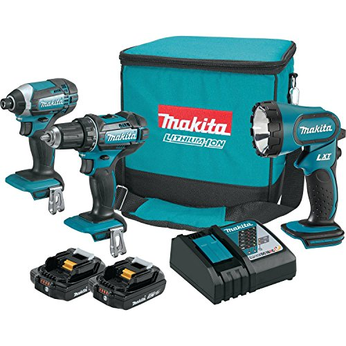 Makita CT320R 18V COMPACT Lithium-Ion Cordless 3-Pc. Combo Kit (2.0Ah)