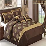 Traditionally elegant 7pc Queen Judy comforter set; Rich chocolate and gold color with detailed print; 100% polyester fabric with hypallergenic benefits
