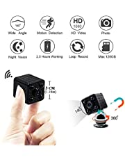 Mini Kamera LXMIMI WiFi Kleine Kamera 1080P HD Kamera Mini Wlan 140 ° Weitwinkel Tragbare Kamera Klein mit Nachtsicht und Bewegungserkennung mit App
