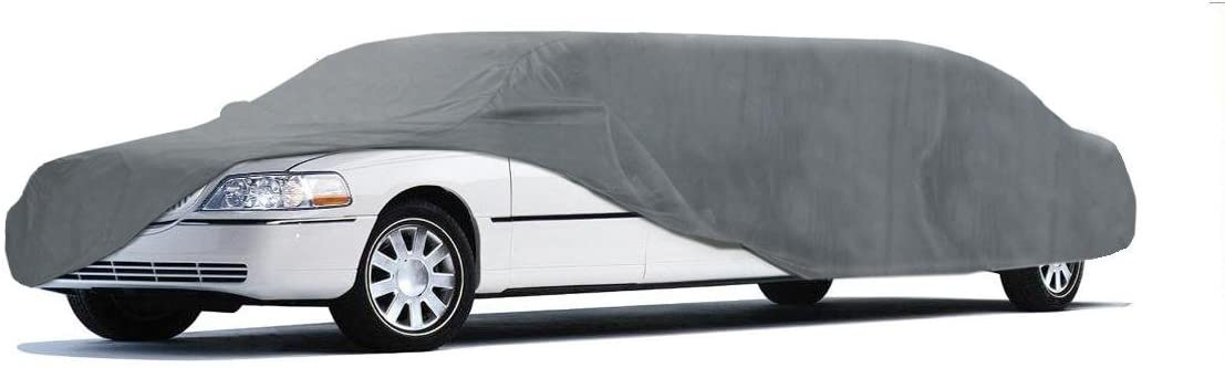 Gray to 28 ft - Coverbond 4 Moderate Weather Outdoor Coverking UVCLMO3N98 Universal Fit Cover for Limo Length 26.1 ft