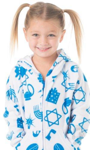 cbd28f63c Footed Pajamas Hanukkah Fun Toddler Hoodie One Piece - Buy Online in ...