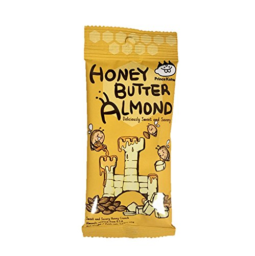 (Prince Katsu Honey Butter Nuts, sweet and savory nuts, 12 x 35g pouch box, made in Korea (Honey Butter Almond, 1 box))