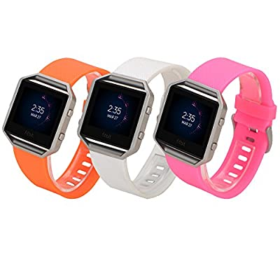 Ldaai For Fitbit Blaze, Soft Silicone Replacement Watch band Wrist strap For Fitbit Blaze Smart Watch(Frame Not Included) ... by Ldaai