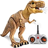 Toys : Discovery Kids Remote Control RC T Rex Dinosaur Electronic Toy Action Figure Moving & Walking Robot w/ Roaring Sounds & Chomping Mouth, Realistic Plastic Model, Boys & Girls 6 Years Old+
