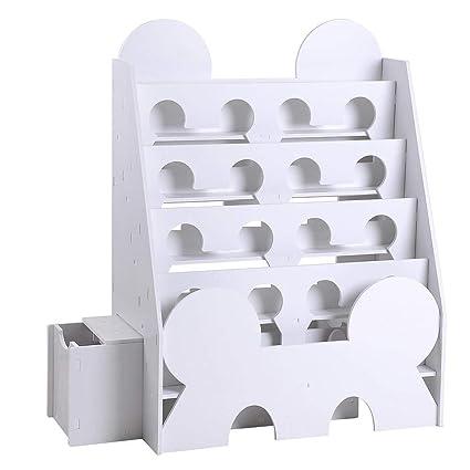 buy popular f2bda 98581 Amazon.com: 5-Tier White Bookshelf Bookcase Display Rack ...