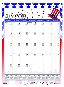 House of Doolittle 2018-2019 Monthly Seasonal Wall Calendar, Academic, 12 x 16.5 Inches, July - June, Case of 24 (HOD3395PK-19)