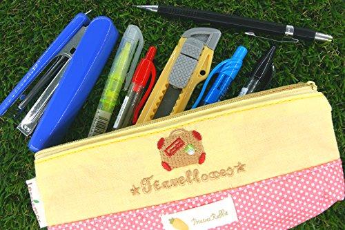 Giallo e rosa bagaglio Pencil Case (OP555440)