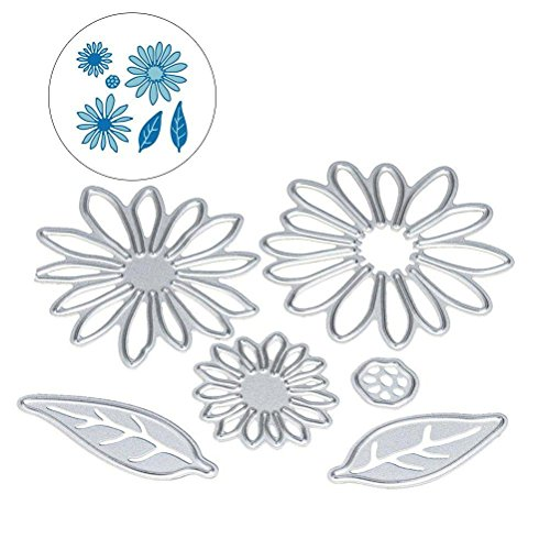 LIGONG 6 Pieces DIY Cutting Dies Flowers Leaf Metal Embossing Stencil For Album Scrapbooking Paper Card Art Craft