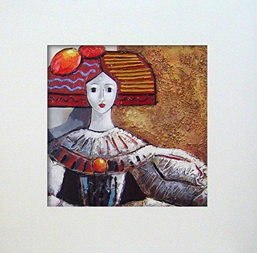 Cuadros Modernos Meninas pintadas a Mano con Marco decoracion s