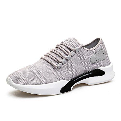 Chaussures De Sport De Traniners Respirant Earsoon Léger Chaussures De Sport Course À Pied Occasionnels Pour Des Femmes Des Hommes Gris