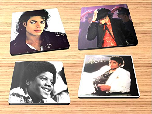 Michael Jackson Rock and Roll Album Reproduction on Neoprene Coaster Set of 4