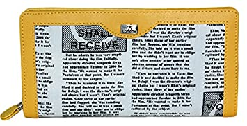K London Newspaper print and Yellow Women Wallet Women's Wallets at amazon