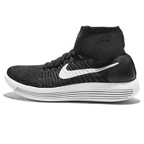 Nike Womens Wnns Lunarepic Flyknit, Nero / Bianco-antracite-volt, 5,5 M Us