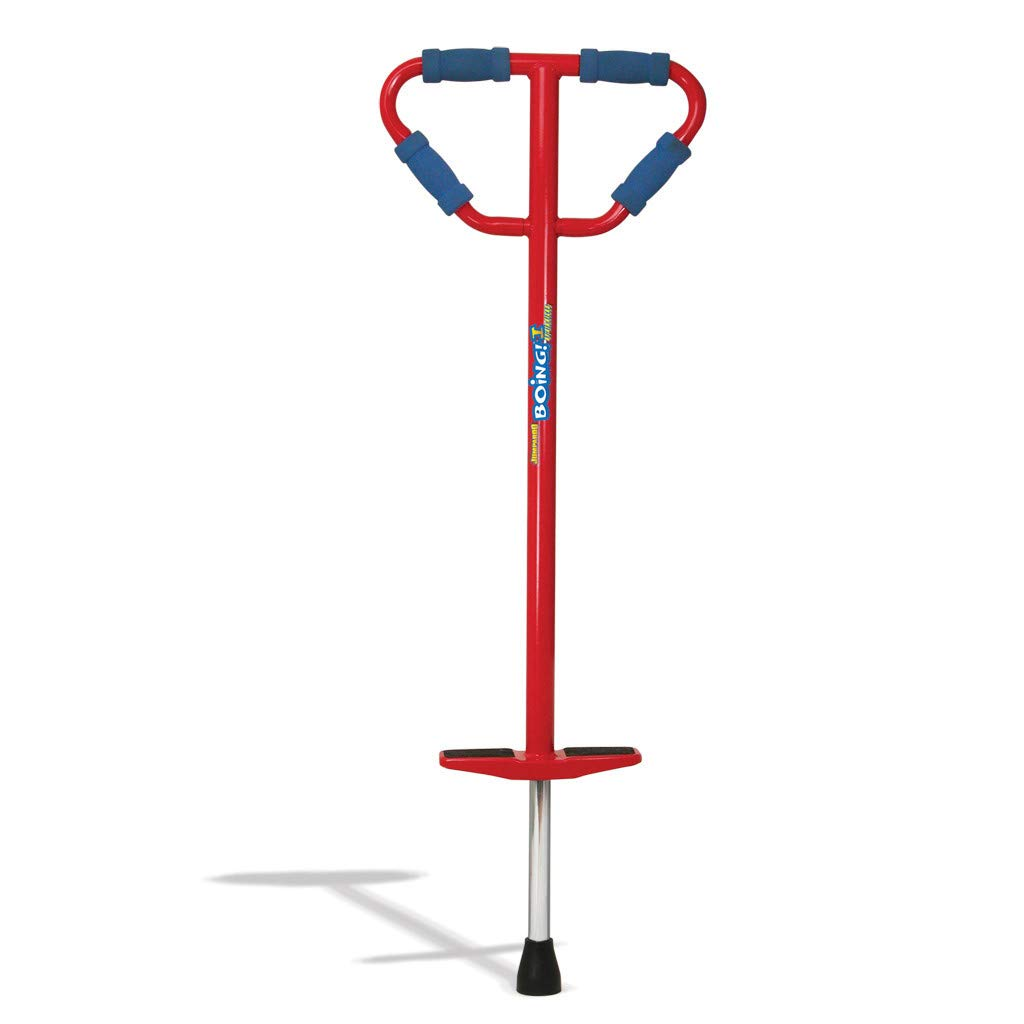 Geospace Medium Jumparoo Boing! I Pogo Stick by Air Kicks for Kids 60 to 100 Lbs, RED by Geospace (Image #1)