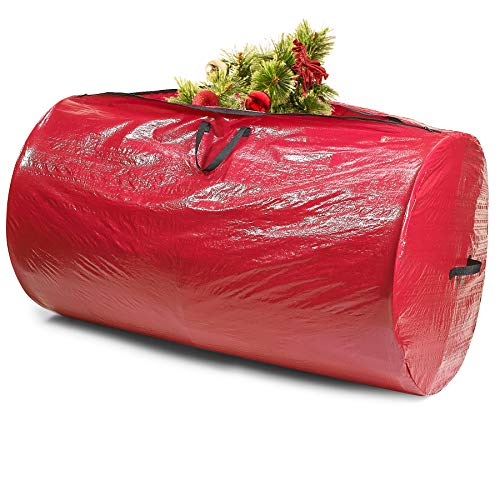 Decoration Storage Recycling Kicko Christmas Tree Removal Bag for Home Supply Cleaning Tool Set of 3-144 Inches x 90 Inches Heavy-Duty Disposal Bag and Skirt