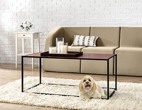 Table Coffee Square Classic (Zinus Modern Studio Collection Classic Rectangular Coffee Table, Brown)