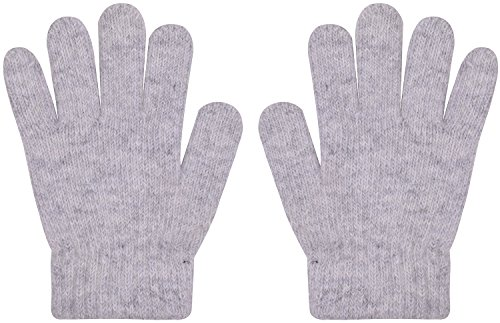 Magic Gloves Childrens (Kids Magic Knit Gloves Warm Wool Stretchy Winter Glove For Children Gray , One Size)