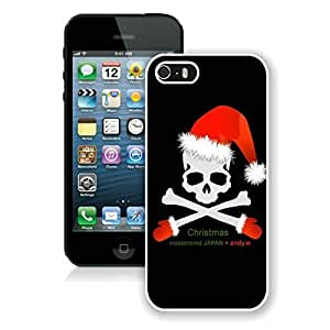 Personalized Iphone 5S Protective Cover Case Christmas Skull iPhone 5 5S TPU Case 1 White by icecream design