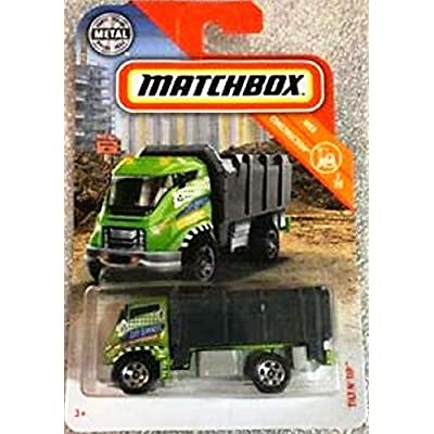 Matchbox 2020 MBX Construction Tilt 'N Tip (Garbage Truck) 34/100, Green and Black: Toys & Games