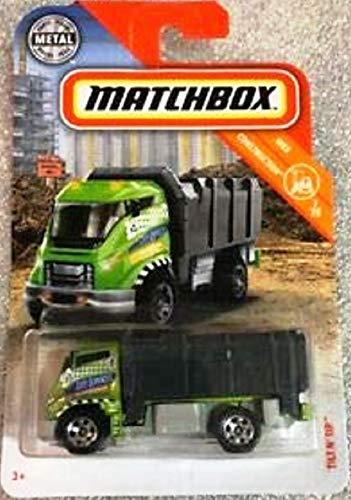 - Matchbox 2019 MBX Construction Tilt 'N Tip (Garbage Truck) 34/100, Green and Black