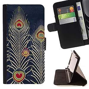For Samsung Galaxy S4 IV I9500 Case , Armada Bluer Pluma del dibujo del arte- la tarjeta de Crédito Slots PU Funda de cuero Monedero caso cubierta de piel