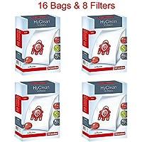 Miele HyClean 3D Efficiency Dust Bag, Type FJM, 16 Bags & 8 Filters (4)