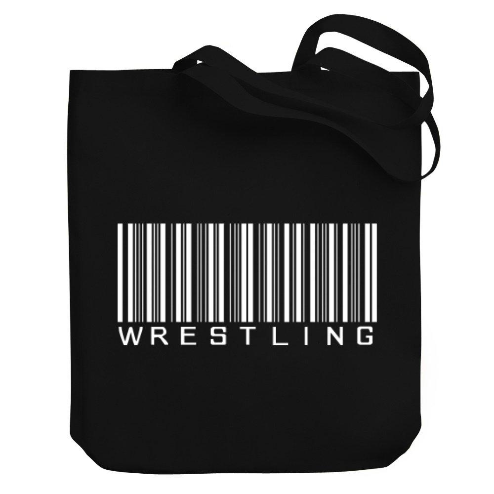 Teeburon Wrestling BARCODE Canvas Tote Bag