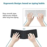 iClever Bluetooth Keyboard, Ultra Compact Foldable Rechargeable Universal Wireless Keyboard for Windows iOS Mac Android Tablet Smartphone, Ergonomic Design, Scissor for Better Type, Gray