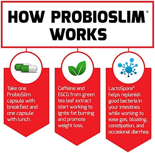 Force Factor ProbioSlim Probiotics + Weight Loss Supplement, Burn Fat, Lose Weight, Reduce Gas, Bloating, Constipation, Digestive Health, 60 Count 10