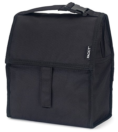 PackIt Freezable Lunch Bag with Zip Closure, Black (Outlet Long Beach)