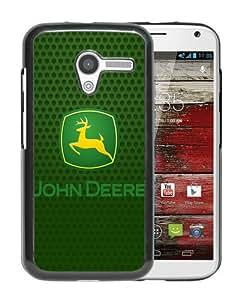 Personalized Motorola Moto X With john deere logo Black Customized Photo Design Motorola Moto X Phone Case