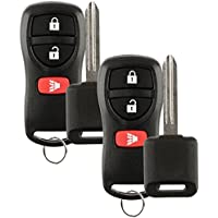 Discount Keyless Remote Replacement Car Key Fob With Uncut Ignition Key For KBRASTU15 CWTWB1U733, ID 4D 60, NI01T (2 Pack)