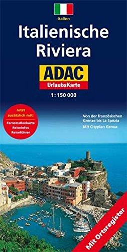 Italienische Riviera: 1:150000. Von der französichen Grenze bis La Spézia. Mit Cityplan Genua (ADAC Karten Italien / 1:150000)