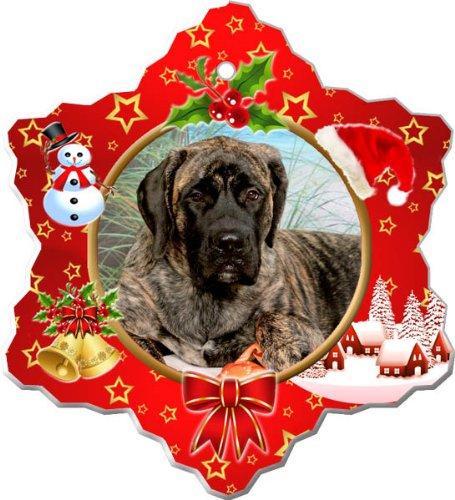 - Mastiff Porcelain Holiday Ornament