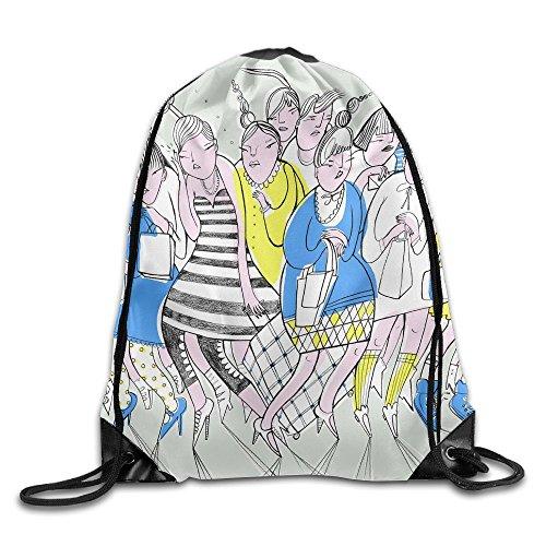 (Unisex Drawstring Bags Girl Watercolor Painting Art Portable Backpack Travel Sport Gym Bag Yoga Runner Daypack Shoe)