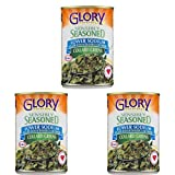 Glory Foods Simply Seasoned Collard Greens, 15 oz - Pack of 3