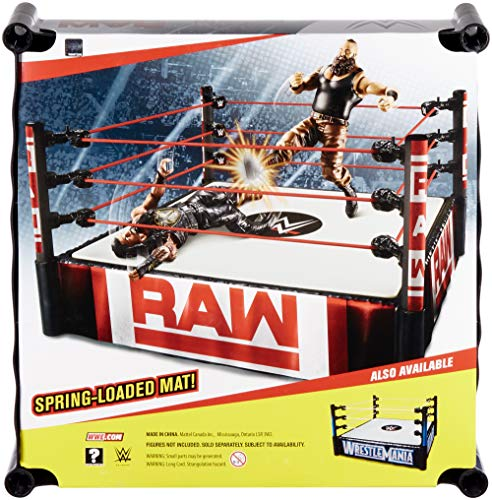 WWE Superstar 14-inch Ring with Authentic Logo, Flexible Ropes & Spring-loaded Mat for Bouncing Action [Amazon Exclusive]